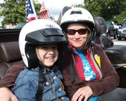 Star Althea and her mom are ready to ride.