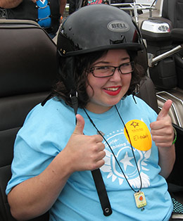 Star Elizabeth is ready to ride in the Pittsburgh Ride for K