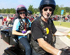 Star Karissa and her dad lead Birmingham Ride for Kids 2013