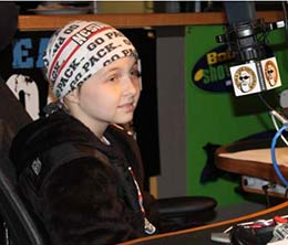 Brain tumor survivor Meghan Bunn speaks on air