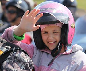 Star Karissa at the Middle Tennessee Ride for Kids