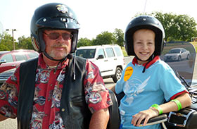 Star Charlie helps lead the 2013 Oklahoma Ride for Kids