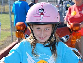 Sabrina, 8, is a Ride for Kids Star in Phoenix.