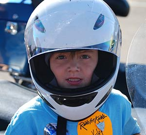 Brain tumor survivor Kyler at the 2013 Utah Ride for Kids